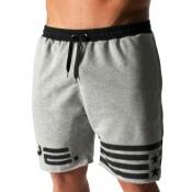 Lovely Sportswear Lace-up Grey Shorts
