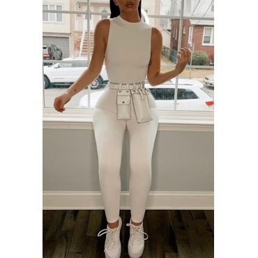 Lovely Trendy Basic Skinny White One-piece Jumpsuit
