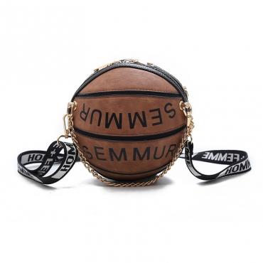 Lovely Trendy Basketball Brown Crossbody Bag