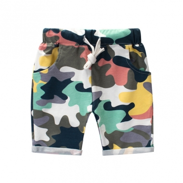 Lovely Trendy Camo Print Boy Shorts