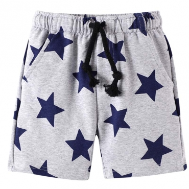Lovely Casual Print Grey Boy Shorts