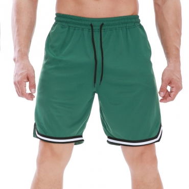Lovely Sportswear Patchwork Green Shorts