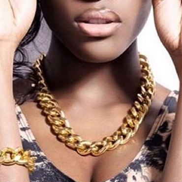 Lovely Trendy Hollow-out Gold Necklace