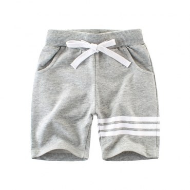 Lovely Casual Lace-up Grey Boy Shorts