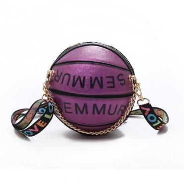 Lovely Trendy Basketball Purple Crossbody Bag