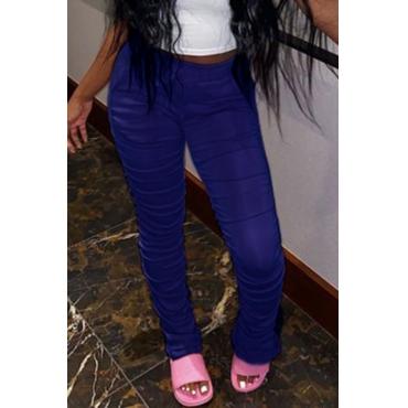 Lovely Casual Basic Dark Blue Pants
