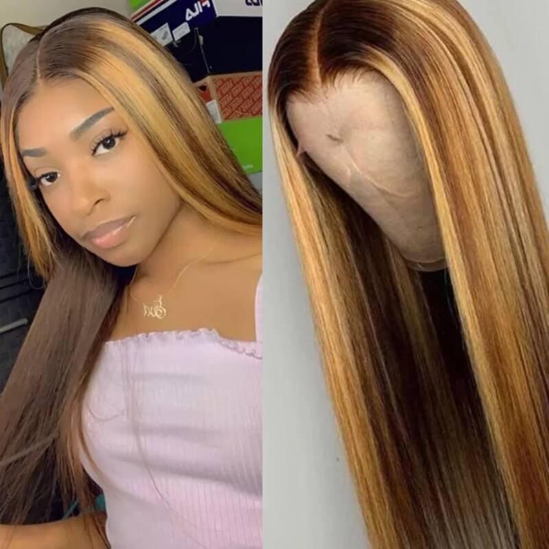 Lovely Trendy Long Gold Wigs фото