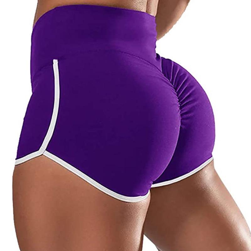 Activewear lovely Sportswear Patchwork Purple Shorts фото