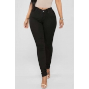 Lovely Stylish Basic Skinny Black Jeans