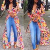 Lovely Trendy Print MulticolorBlouse