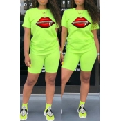 Lovely Leisure O Neck Lip Zipper Design Green Two-
