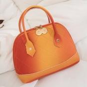 lovely Stylish Zipper Design Orange Crossbody Bag
