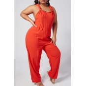 lovely Leisure Loose Croci Plus Size One-piece Jum