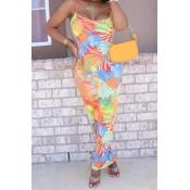 lovely Trendy Print Multicolor Ankle Length Dress