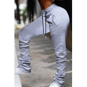 lovely Street Lace-up Grey Pants