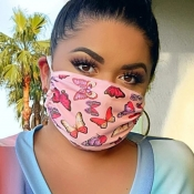 lovely Stylish Print Dustproof Pink Face Protectio