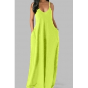 lovely Leisure Pocket Patched Green Maxi Plus Size