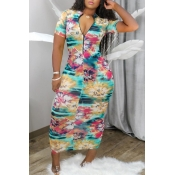 lovely Stylish Print Multicolor Ankle Length Dress