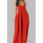 lovely Leisure Pocket Patched JacinthMaxi Plus Size Dress