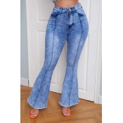 lovely Vintage Flared Baby Blue Jeans
