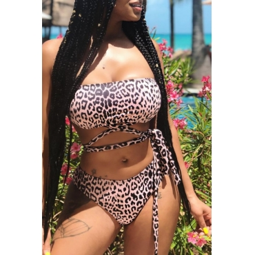 Lovely Leopard Print Two-piece Swimsuit