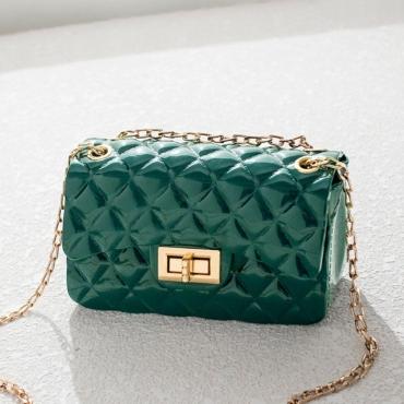 Lovely Chic Basic Green Messenger Bag