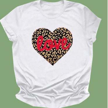 Lovely Leisure O Neck Leopard Print T-shirt