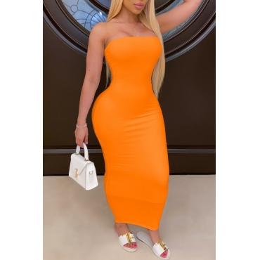 lovely Trendy Dew Shoulder Croci Ankle Length Dress