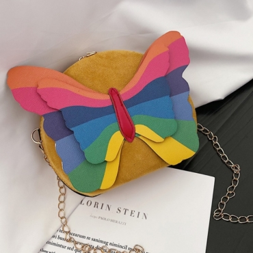 lovely Chic Butterfly Yellow Crossbody Bag