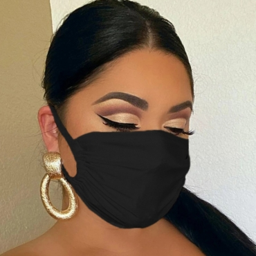 lovely Casual Basic Dustproof Black Face Protection