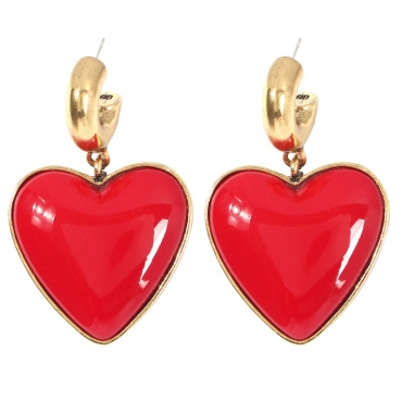 lovely Trendy Heart Red Earring