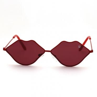 lovely Stylish Lip Wine Red Sunglasses