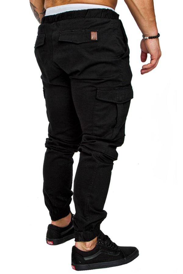 Lovely Casual Drawstring Black Pants