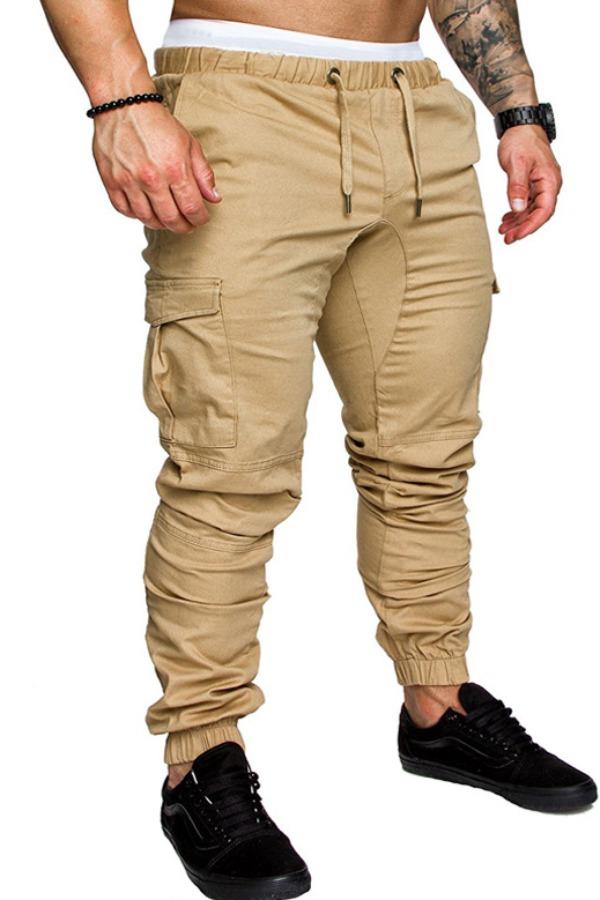 Pants/Capris Lovely Casual Drawstring Khaki Pants фото