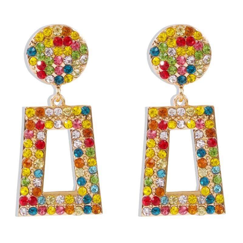 Lovely Trendy Rhinestone Decorative Multicolor Ear