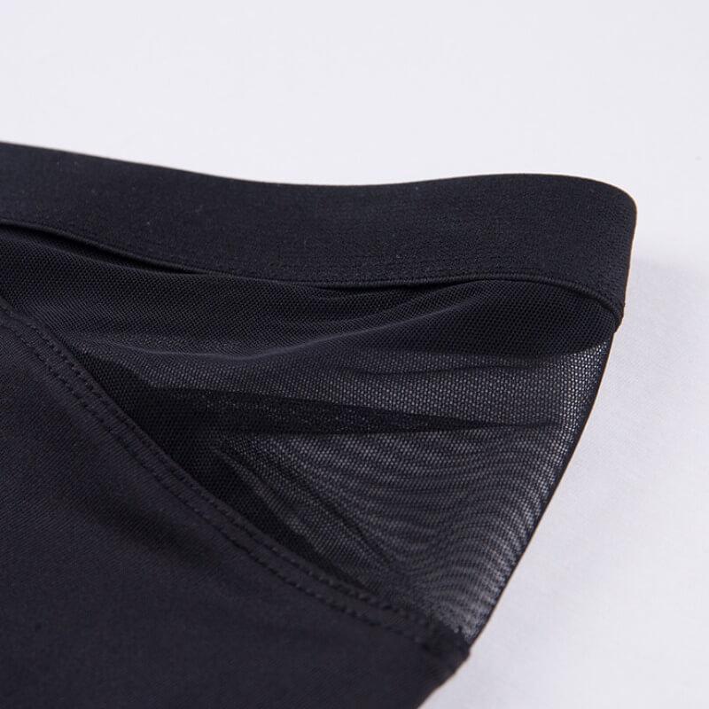 Lovely Sportswear Patchwork Black Shorts