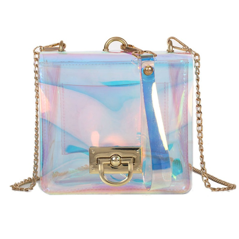 Messenger Bag&Crossbody Bag lovely Chic Chain Strap Clear Luctte Crossbody Bag фото