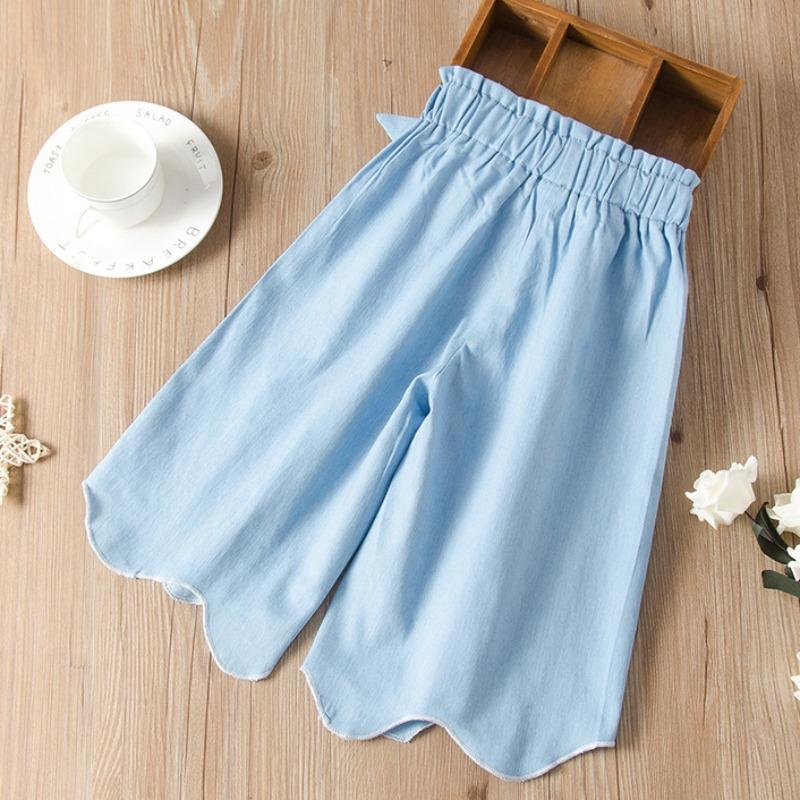 lovely Casual Asymmetrical Baby Blue Girl Jeans