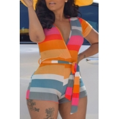 lovely Trendy Striped Croci One-piece Romper