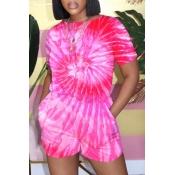 lovely Bohemian Tie-dye Pink One-piece Romper