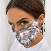 Lovely Sweet Sequined Black Face Mask