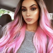 Lovely Trendy Long Pink Wigs