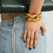lovely Chic Hollow-out Gold Bracelet