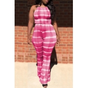 lovely Stylish Tie-dye Red Two-piece Pants Set