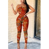 lovely Trendy Print Jacinth Two-piece Pants Set