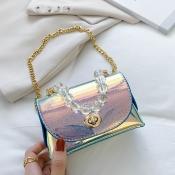 lovely Chic Chain Strap Blue Crossbody Bag