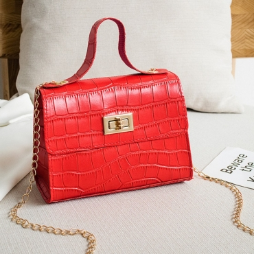 lovely Sweet Zipper Design Red Messenger Bag