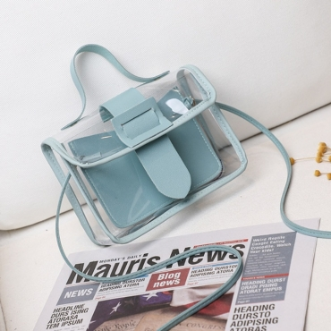 lovely Casual See-through Skyblue Messenger Bag