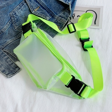 lovely Sportswear See-through Green Crossbody Bag