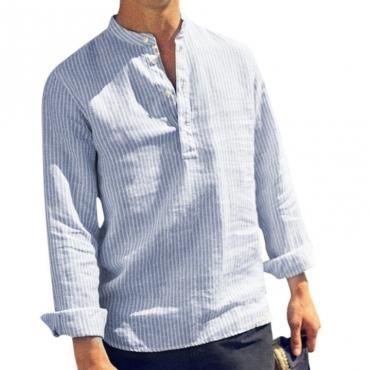 lovely Stylish Striped Blue Shirt